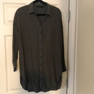 Zara Button Down Tunic